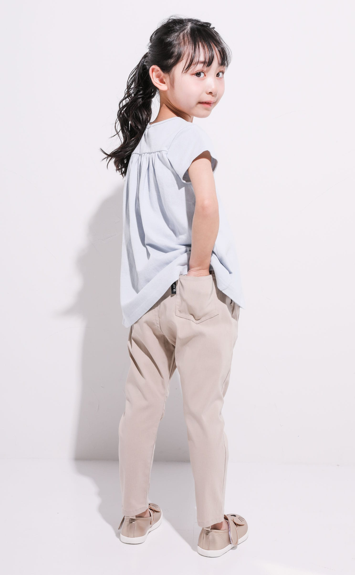 STRETCH PANTS BEIGE